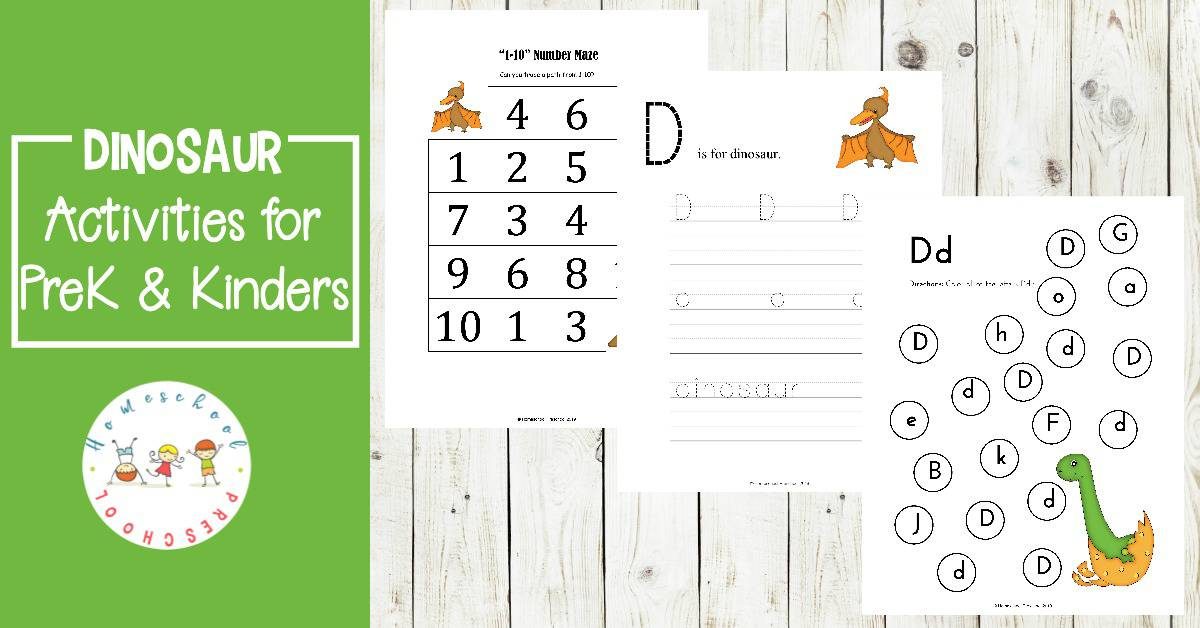 Free Math And Literacy Dinosaur Printable Activities