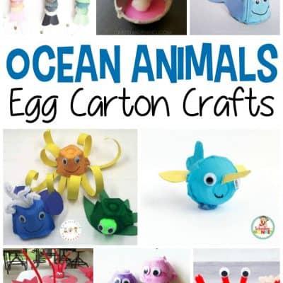 Egg Carton Ocean Animals