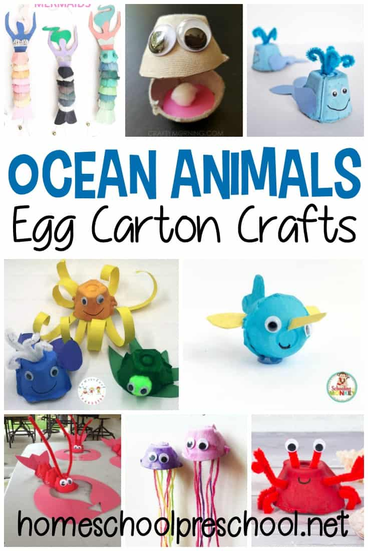 Egg carton ocean animals make great summertime crafts! Whether you're heading to the beach or just learning about it, try one (or more) of these ideas.