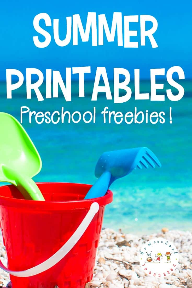 Looking for something fun to do with your preschoolers? These free summer printables are just what you need to entertain your little ones on a hot summer day.