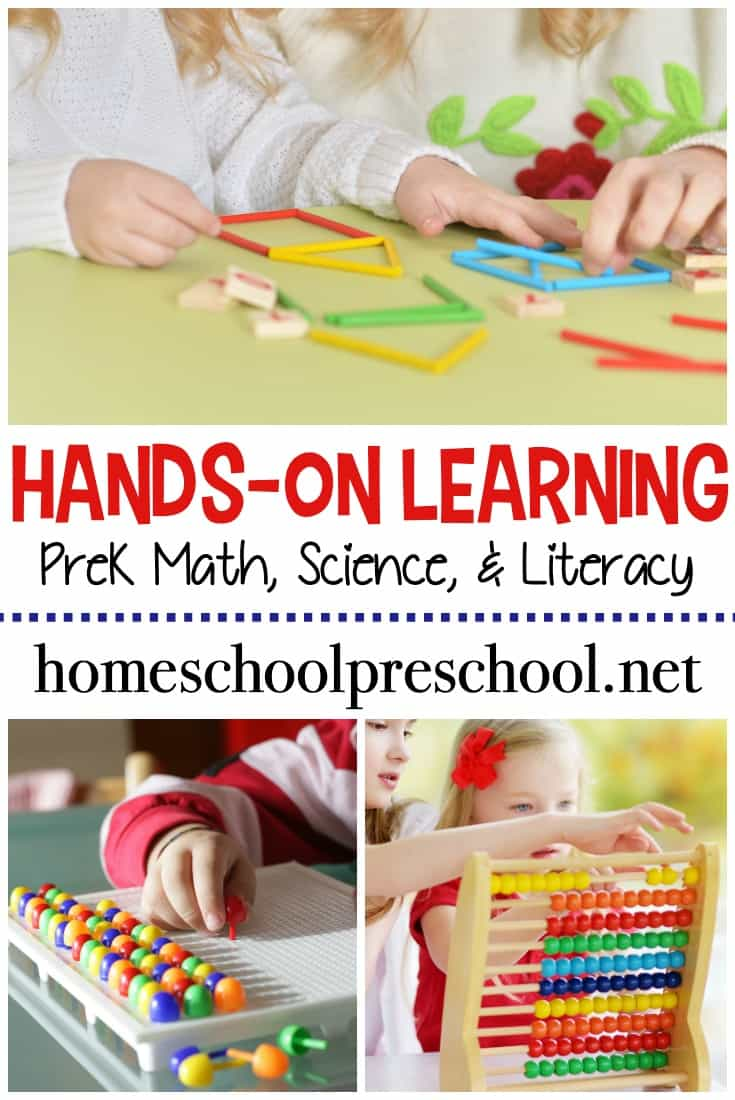 Learning is more fun when it's hands-on. Ditch the worksheets and engage your young learners with this collection of over 100 hands-on preschool activities!