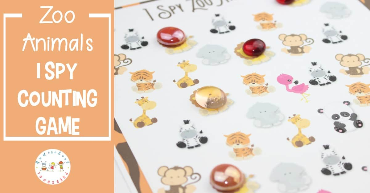 Learning about zoo animals is so much fun for preschoolers. This I Spy Zoo Animals game is a great way to practice counting with their favorite animals.
