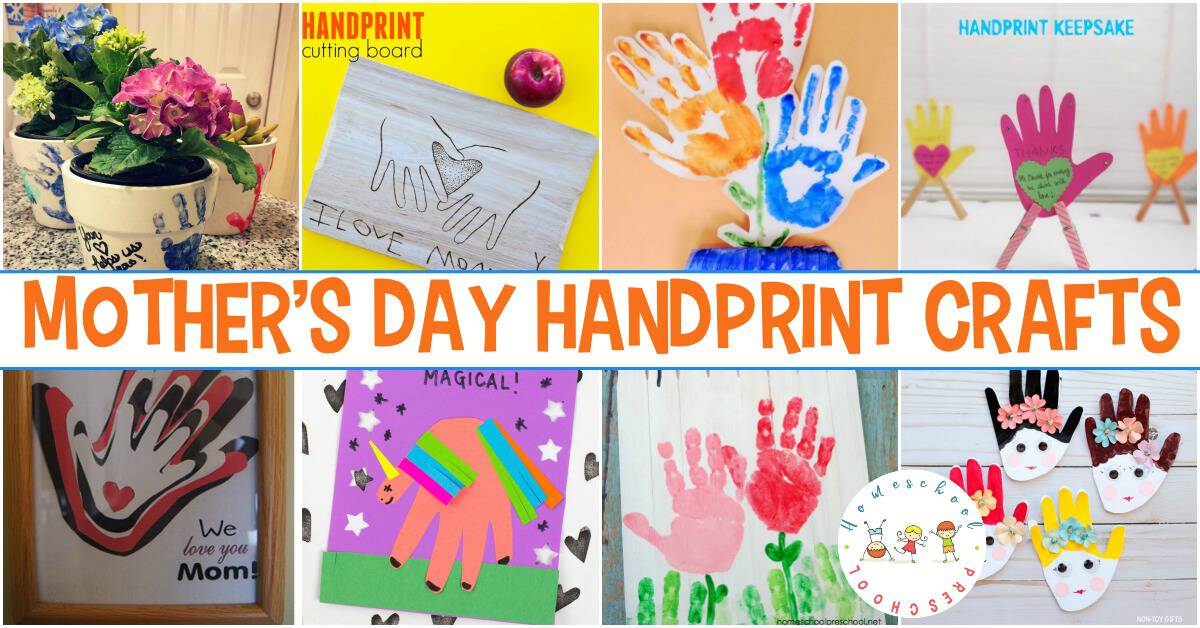 Handprint crafts make great keepsakes. Mom will love these Mother's Day handprint crafts and will treasure them for years to come.