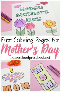 Mothers Day is quickly approaching. Here are some free printable Mothers Day coloring pages kids will love personalizing for Mom!