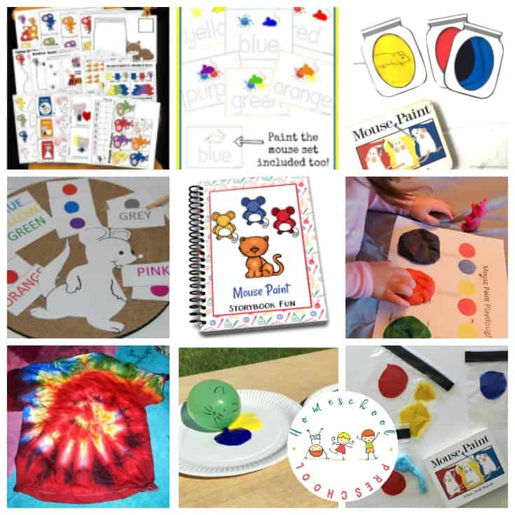 These Mouse Paint activities for kids are a great way to bring Ellen Stoll Walsh's book to life for your little ones. Crafts, printables, and more!