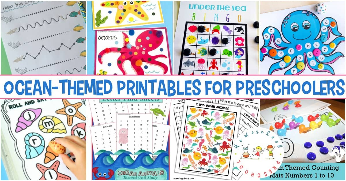 This amazing collection of preschool ocean theme printables is perfect for your summer activities. Kids can learn more about oceans and ocean animals.