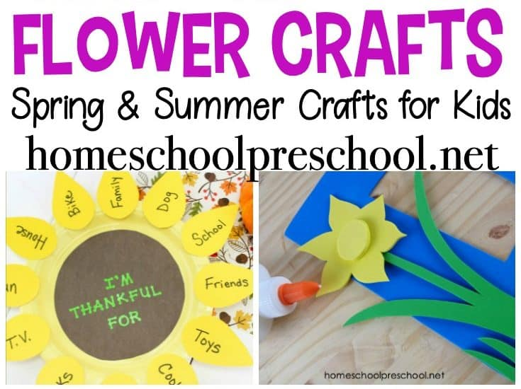 Spend time this spring and summer making a few of these preschool flower crafts. 30 simple ideas for your young crafters!