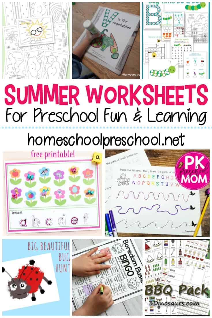 Whether you're teaching this summer or just looking for something fun to do, these preschool summer worksheets are just what you need!