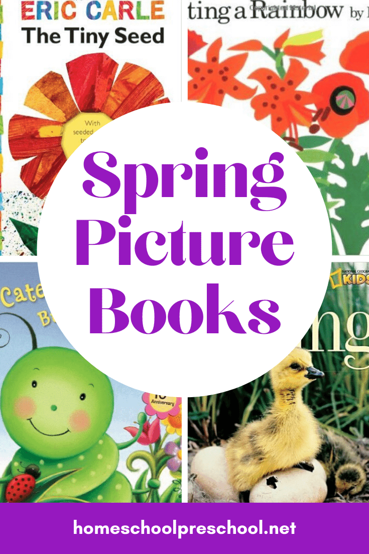 There's so much to read about in the spring! Bees, bugs, flowers, and weather are the perfect themes for great spring books for preschoolers.