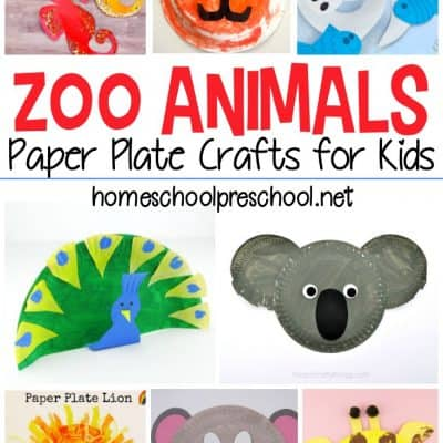 Zoo Animal Paper Plate Crafts