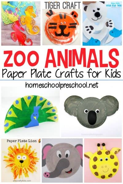 It's time to get your craft on! Choose one or more of these zoo animal paper plate crafts to do with your kids. 25 awesome ideas!