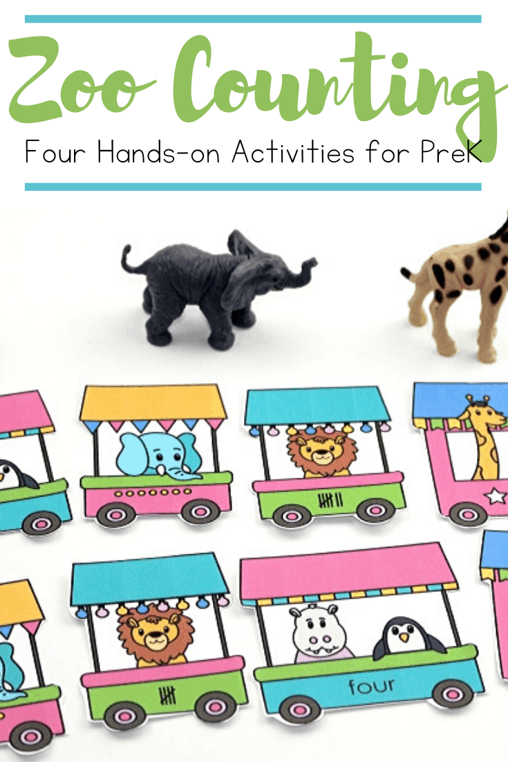 Kids will practice counting a fun variety of zoo animals with these four zoo counting activities! They're perfect for your math centers!