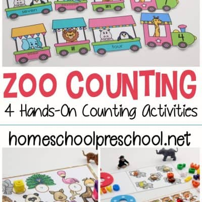 4 Printable Zoo Counting Activities