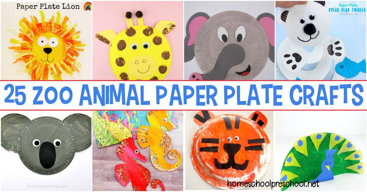25 Awesome Zoo Animal Paper Plate Crafts For Kids
