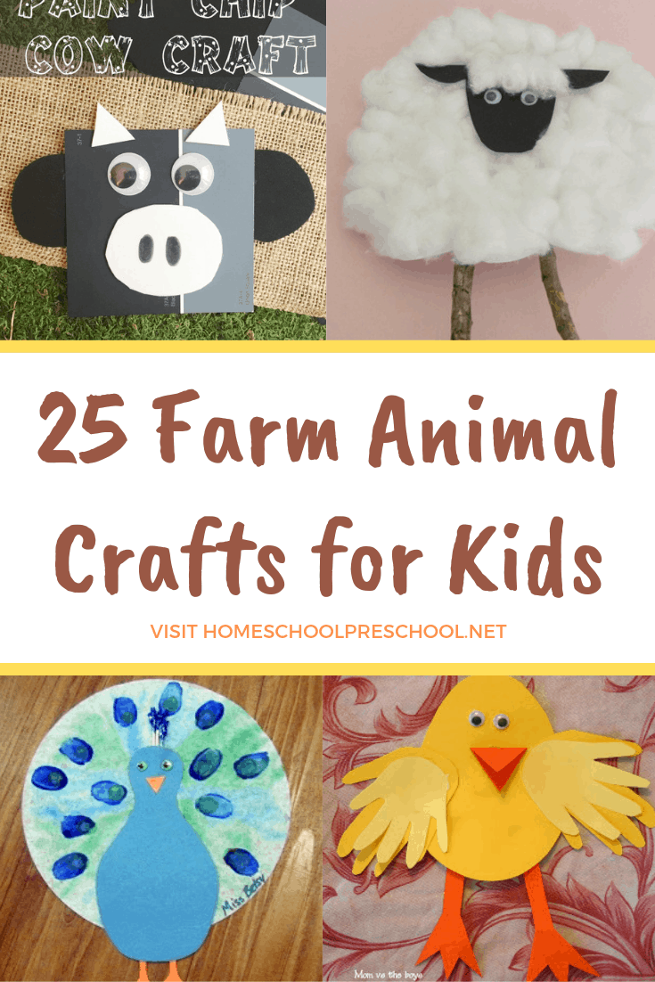 These farm animal crafts for preschool are perfect for an afternoon crafting session. Make a pig, a chick, a cow, and more!