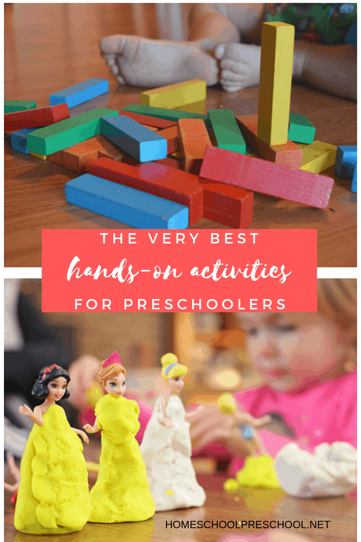 Learning is more fun when it's hands-on. Ditch the worksheets and engage your young learners with this collection of over 100 hands on preschool activities!