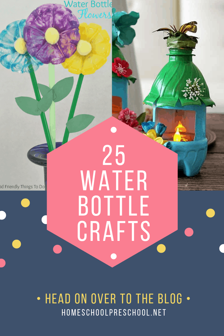Recycled crafts are so much fun, and these water bottle crafts are no exception! Your kids will love turning old bottles into something fun.
