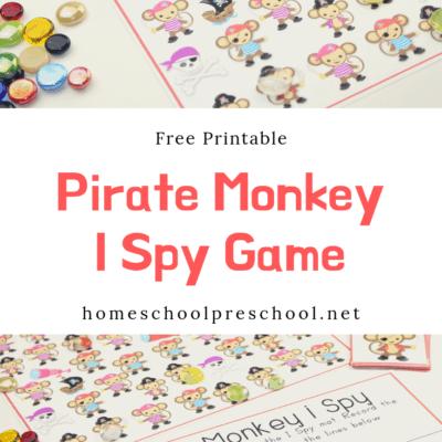 I Spy Pirate Monkey Activity for Preschool