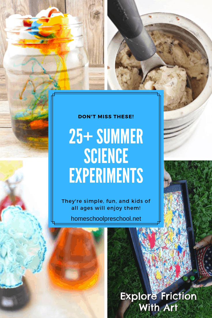 Sneak in some learning over the next few months with some summer science experiments! There are enough ideas here to try something new every day!