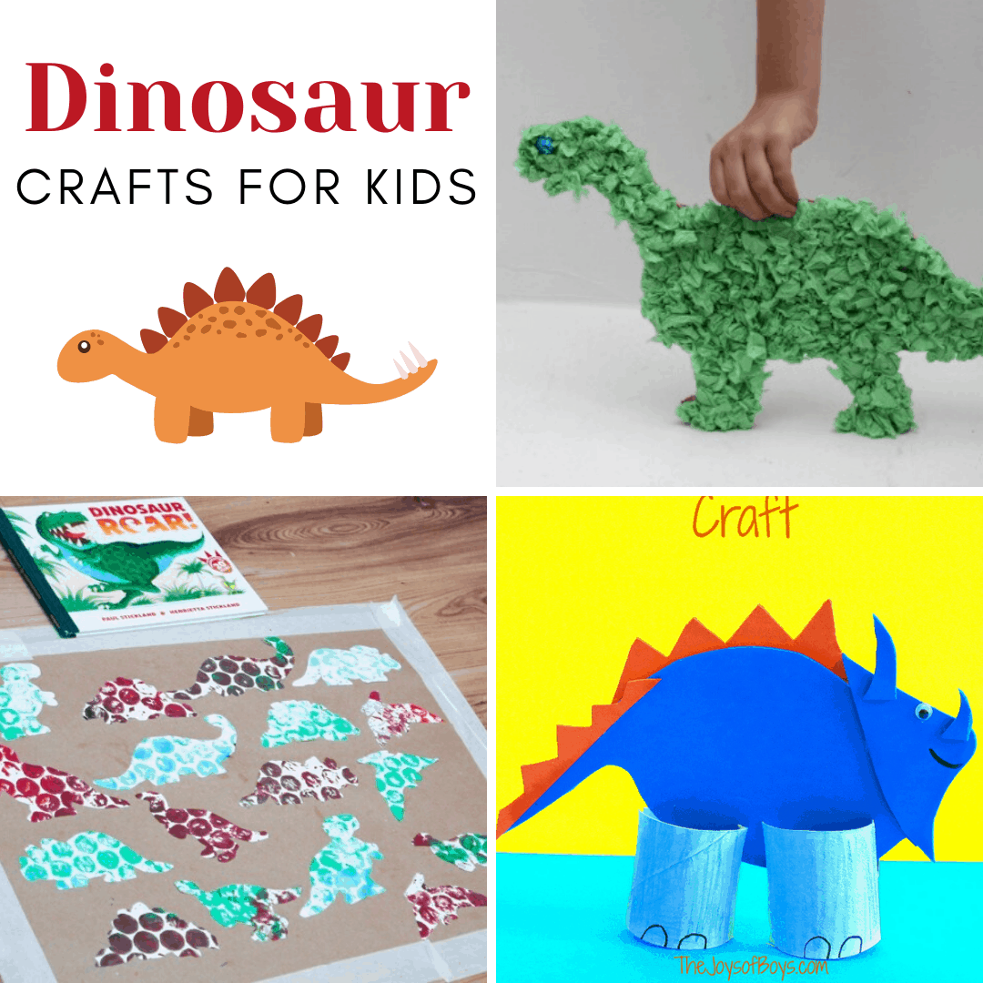 Discover some amazing dinosaur crafts for kids of all ages! They're perfect for your dinosaur loving kids, and your upcoming dinosaur plans.