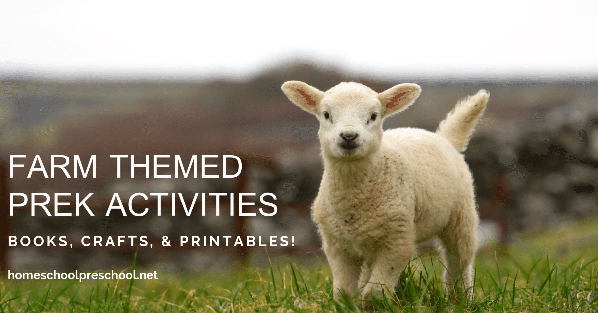 Farm activities for preschoolers!Find crafts, printables, book lists, and more. Come discover some farm-tactic ideas for little ones!