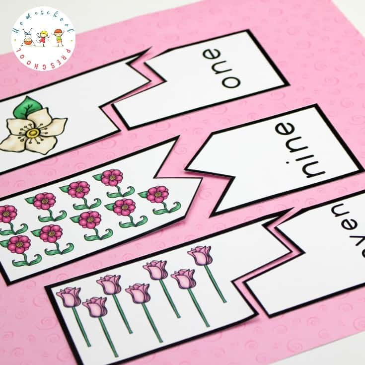 Young learners will work on number recognition, counting, and writing with these flower math activities for preschoolers. Perfect for summer math!