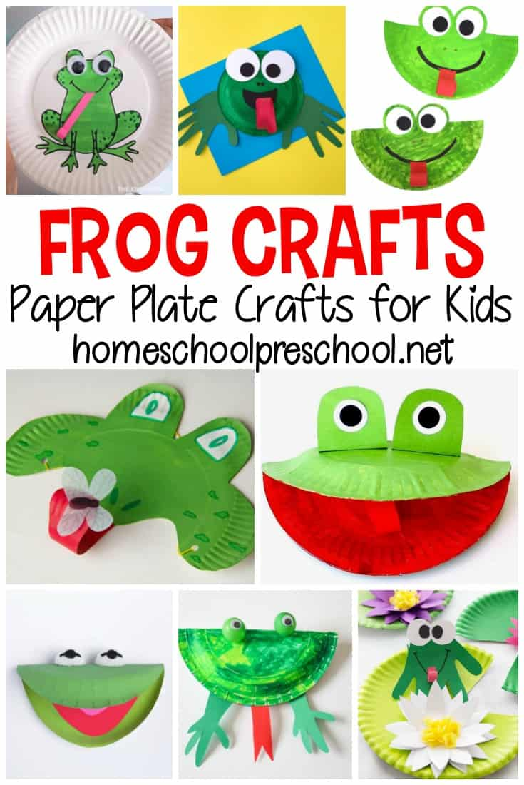 This spring and summer, make one or more of these paper plate frog crafts for preschool kids. They'll love them all!