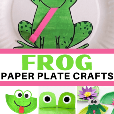 Paper Plate Frog Crafts for Preschool