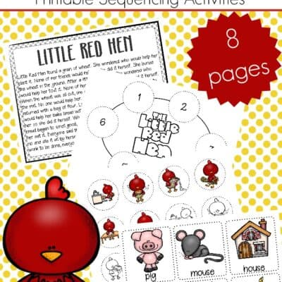 Free Printable Little Red Hen Sequencing Cards