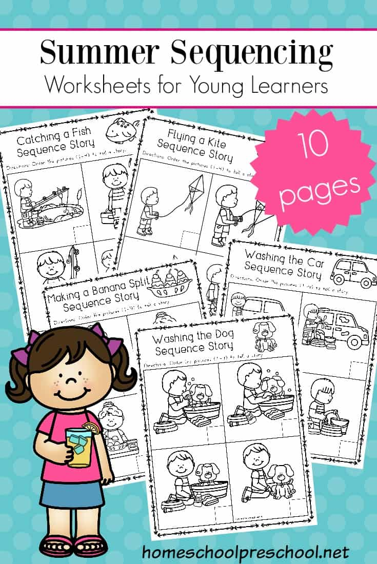 photograph about 4 Step Sequencing Pictures Printable named No cost Sequencing Worksheets for Summer season Mastering