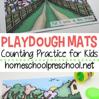 Playdough Mats for Spring and Summer