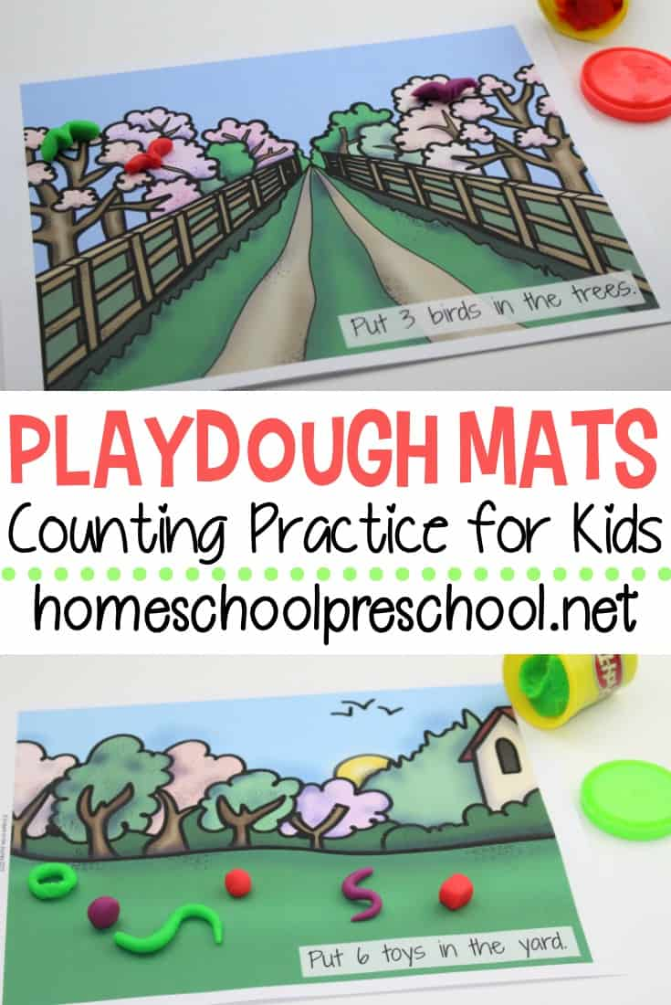 These playdough mats are a great way to get your little ones to practice their counting skills while having fun this spring and summer.