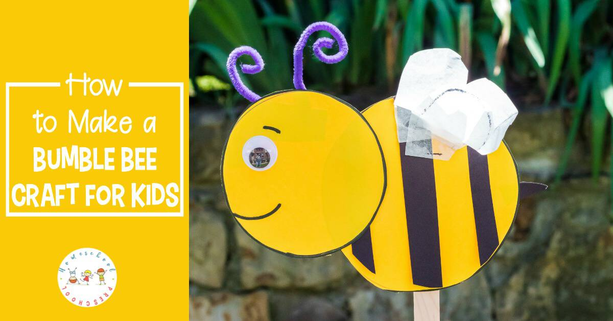 This preschool bumble bee craft is perfect for spring and summer! And, it's a great way to have kids practice their scissor skills.