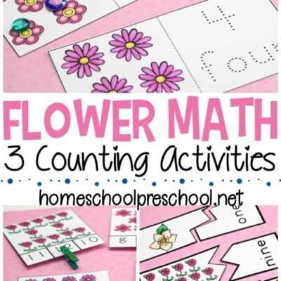 Flower Math Activities for Preschoolers