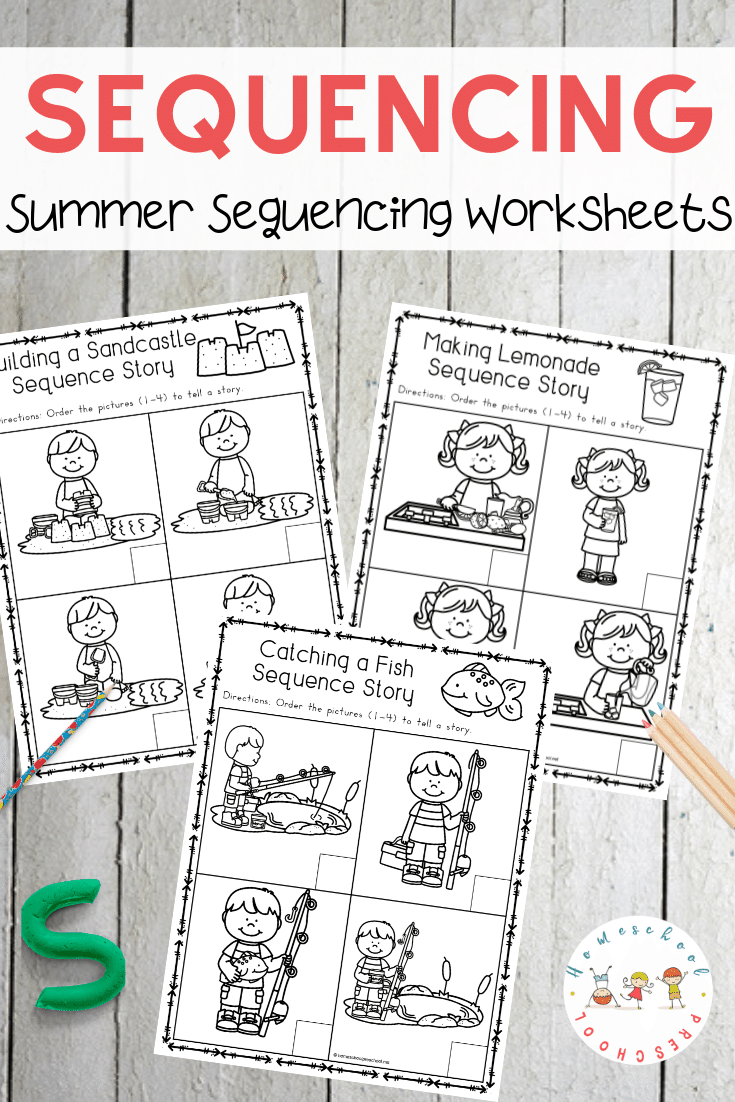 image about 4 Step Sequencing Pictures Printable named Cost-free Sequencing Worksheets for Summer months Discovering