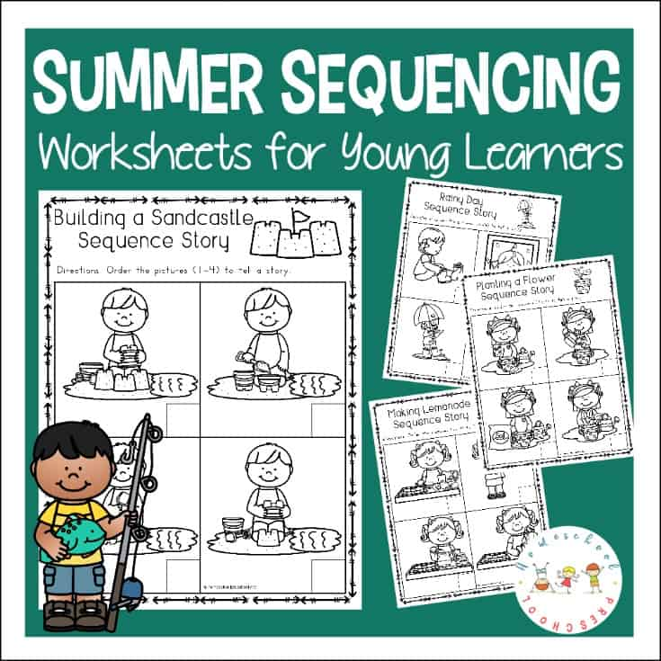 graphic about 4 Step Sequencing Pictures Printable titled Totally free Sequencing Worksheets for Summertime Finding out