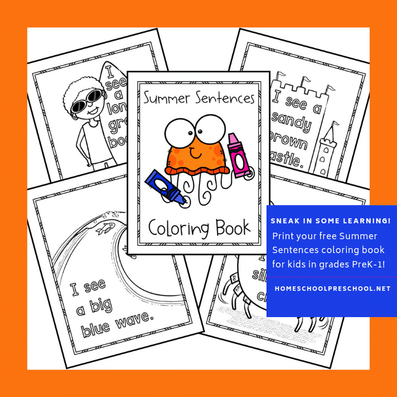 Free printable summer coloring pages! Keep kids occupied this summer with this fun summer coloring book that you can print from home!