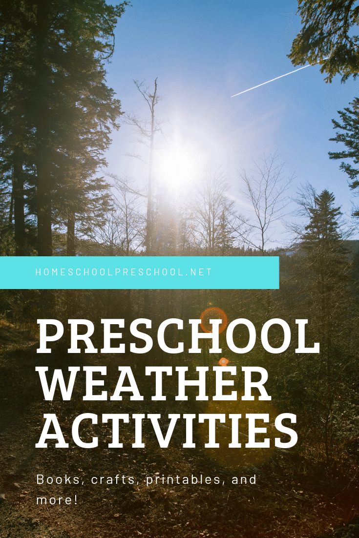 Preschool weather activities! Find crafts, printables, book lists, and more. Come discover all the wonderful ideas for little ones!