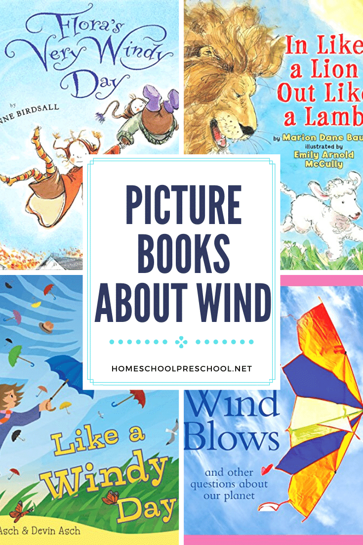 These books about wind for preschoolers are perfect for your spring lesson plans! You can add them to your weather unit, too.