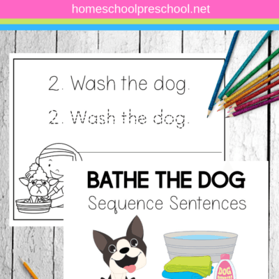 Bathe the Dog Sentence Sequencing Activities