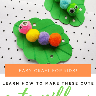 Pom Pom Caterpillar Preschool Craft