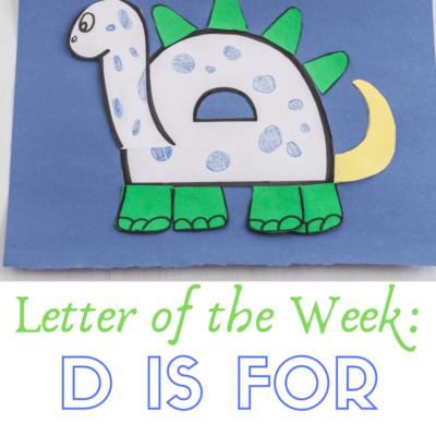 Letter D Dinosaur Craft for Preschoolers