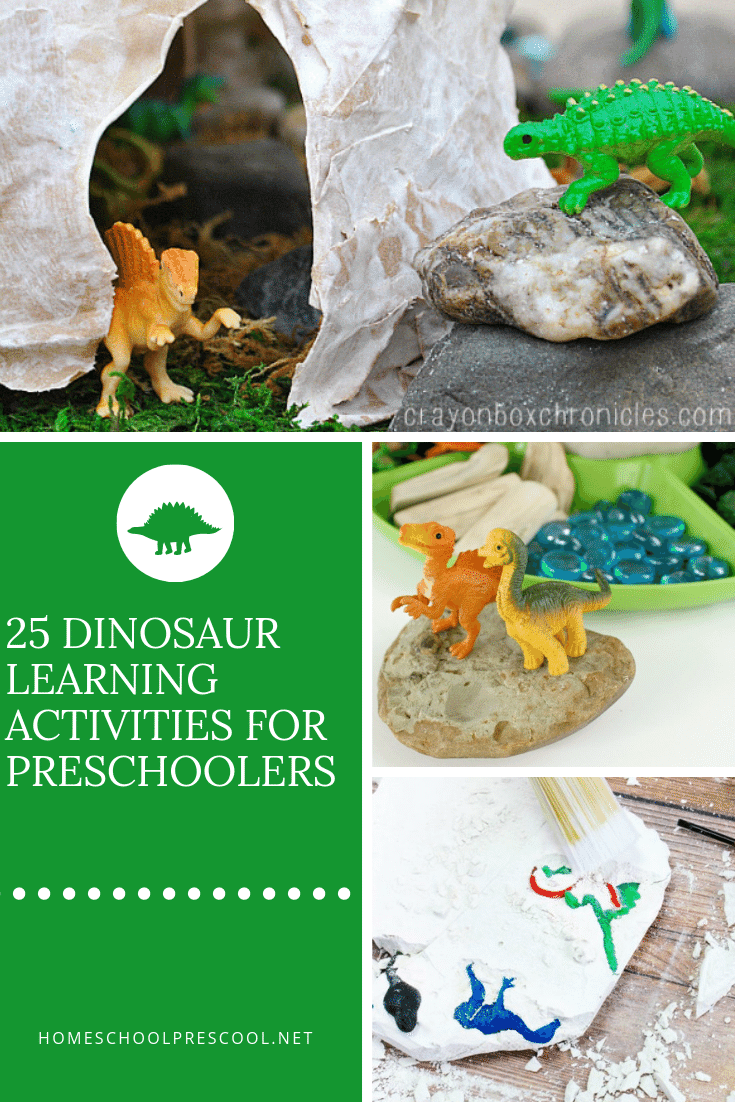 Don't miss these hands-on dinosaur learning activities. They are perfect for toddlers, preschoolers, and kindergarten dinosaur fans!
