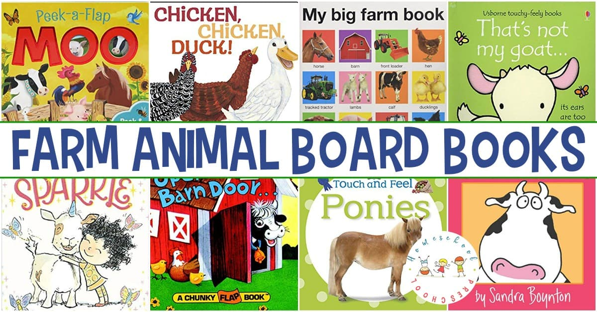 Introduce toddlers to farm lief with these farm animal books for toddlers. This collection of board books is perfect for little hands!