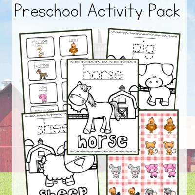 Farm Animals Activities for Preschoolers