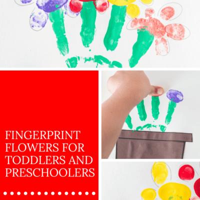 Simple Fingerprint Flowers Art for Preschoolers