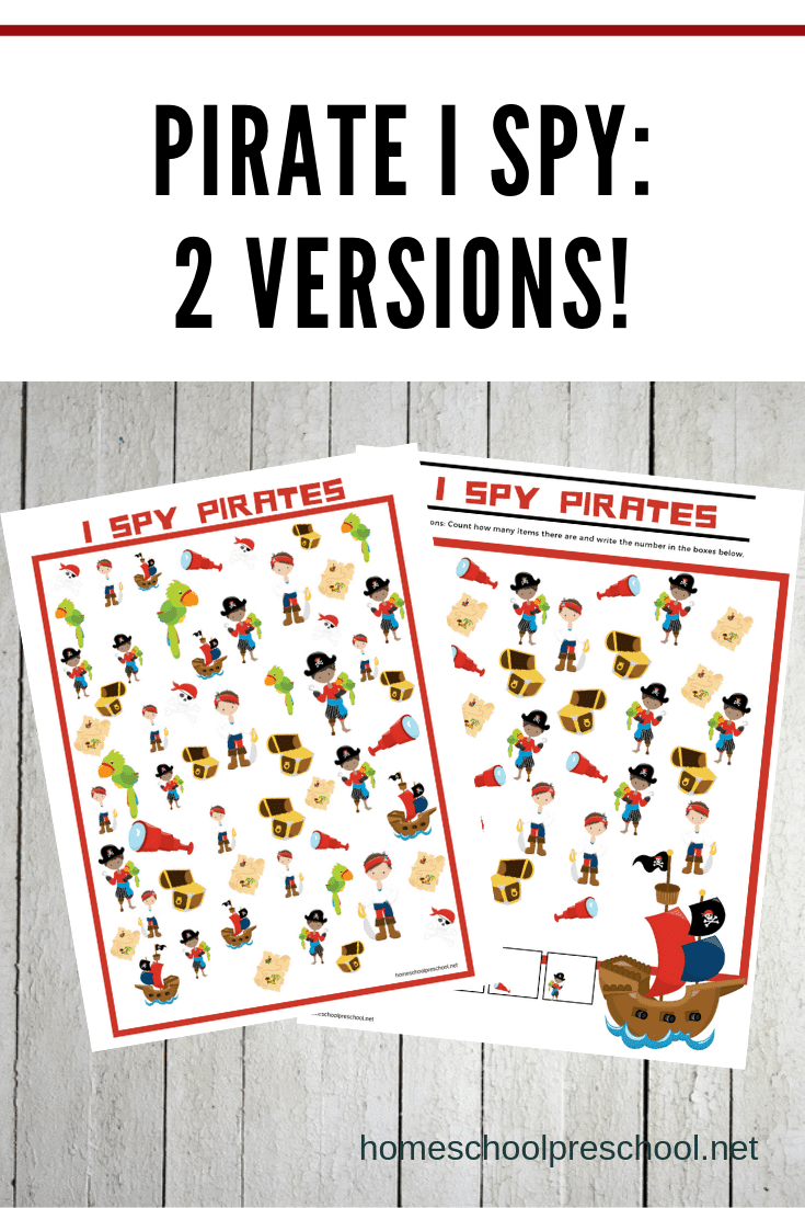 image about Pirates Printable Schedule known as Totally free I Spy Pirate Printables for Young children of All Ages
