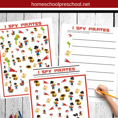 I Spy Pirate Printables