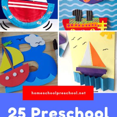 Preschool Boat Crafts
