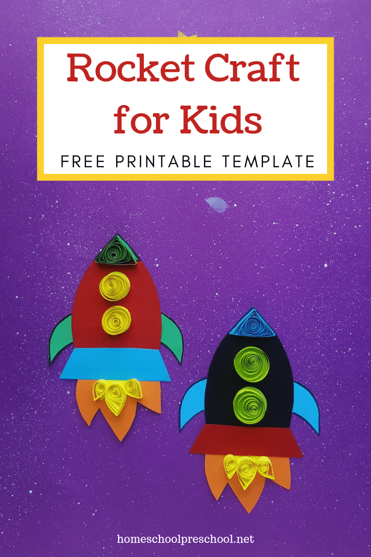 Looking for an easy rocket ship craftfor kids? Our simple paper quilled rocket craft includes a printable template, making it perfect for home and school.